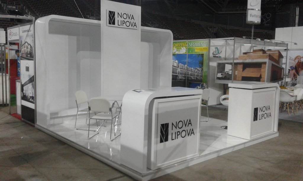 Expo Display Stands : White expo display u exhibition stands market stalls fair